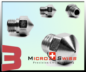 Micro Swiss Plated Wear Resistant Nozzle MK10 for PTFE Lined