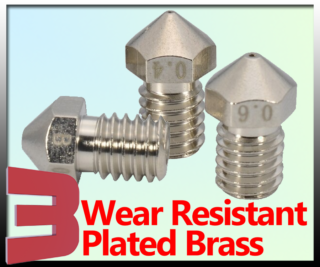 Nozzle V6 Plated Brass